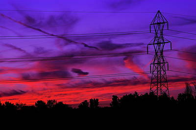 Photograph - Electric Sunset by Chuck De La Rosa
