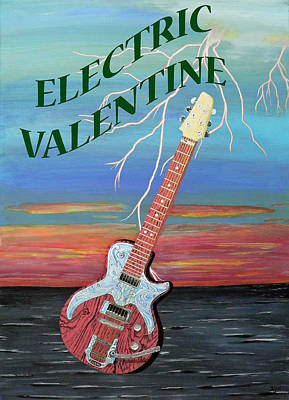 Electric Painting - Electric Valentine by Eric Kempson