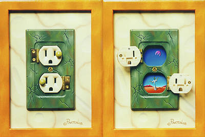 Electric View Miniature Shown Closed And Open Art Print