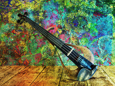 Mixed Media - Electric Violin by Ally White