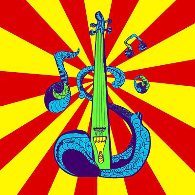 Electric Violin Pop Art Art Print