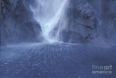 Photograph - Electric Water - Milford Sound by Sandra Bronstein