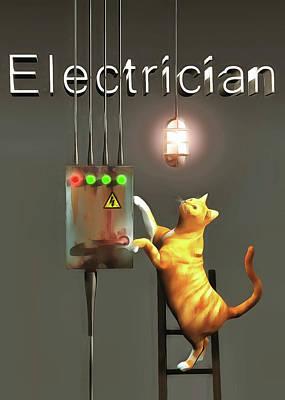 Painting - Electrician by Jan Keteleer