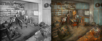 Technical Photograph - Electrician - The Electrical Engineering Course - 1915 - Side By Side by Mike Savad