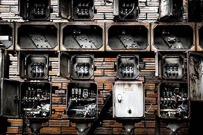 Photograph - Electricity Boards by Edgar Laureano