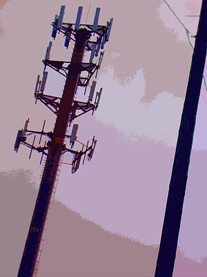 Pathway Digital Art - Electricity by Lenore Senior