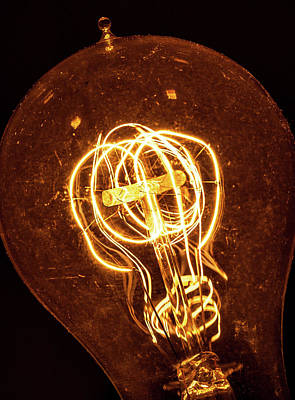 Photograph - Electricity Through Tungsten by T Brian Jones