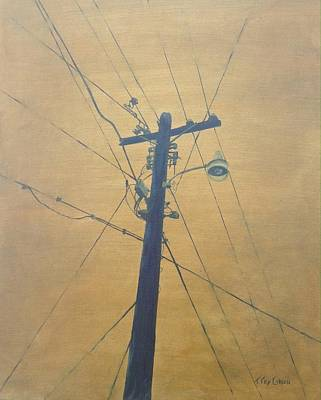 Painting - Electrified by T Fry-Green