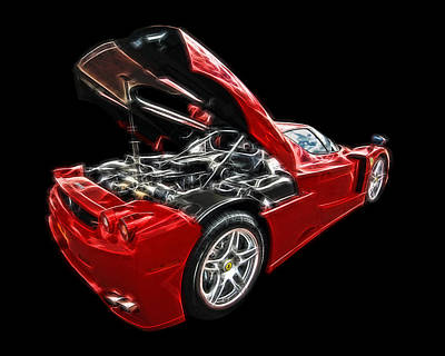 Photograph - Electrifying - Ferrari Enzo by Gill Billington
