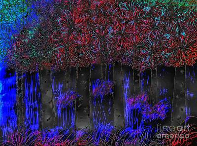Digital Art - Electriphernicus Forest  by Rachel Hannah