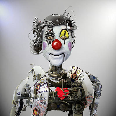 Clown Photograph - Electronic Clown by Ddiarte