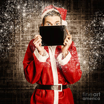 Photograph - Electronics Santa With Brand New Digital Gift by Jorgo Photography - Wall Art Gallery