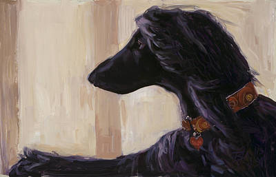 Afghan Hound Painting - Elegance by Billie Colson