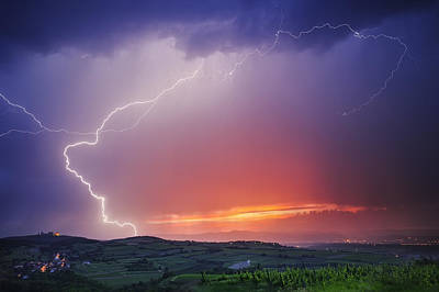 Lightning Photograph - Elegance by Burger Jochen