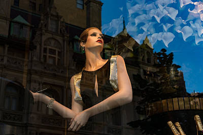 Photograph - Elegance Glamour And Chic - High Fashion Shop Window Reflections by Georgia Mizuleva