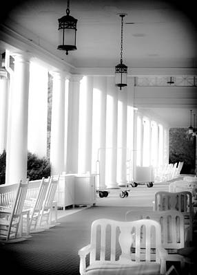 Rocking Chairs Photograph - Elegance Of Architecture In B And W by Karen Wiles