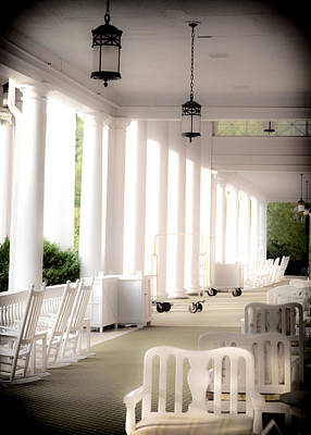 Rocking Chairs Photograph - Elegance Of Architecture by Karen Wiles