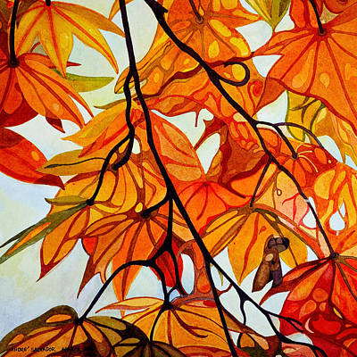 Painting - Elegance Of Maple In Autumn by Andre Salvador