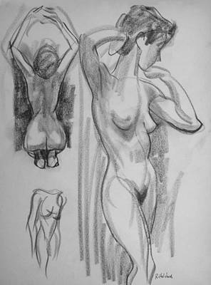 Drawing - Elegance Stretching by Robert Holden