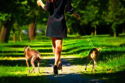Purebred Digital Art - Elegance Walk by Elena Riim