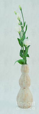 Floral Still Life Mixed Media - Elegant Lisianthus by Angela Doelling AD DESIGN Photo and PhotoArt