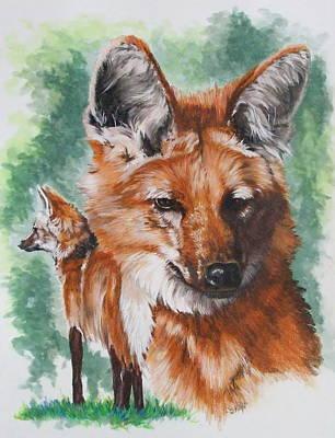 Wild Wolf Mixed Media - Elegant by Barbara Keith