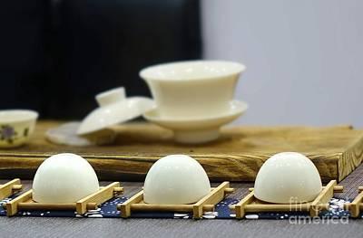 Photograph - Elegant Chinese Tea Set by Yali Shi