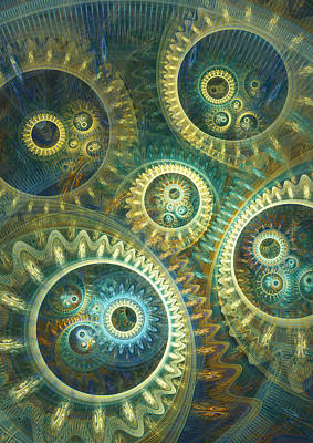 Digital Art - Elegant Clockwork by Martin Capek
