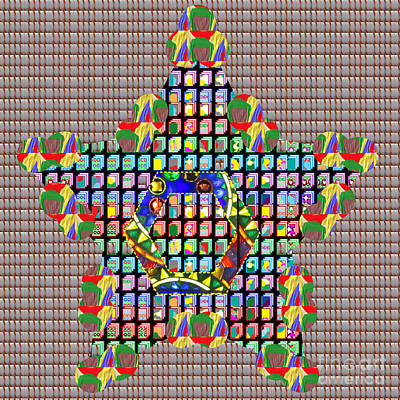 Painting - Elegant Colorful Star On Crystal Stone Tiled Work Of Fineart By Navinjoshi At Fineartamerica.com  Al by Navin Joshi