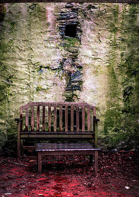 Foot Stool Photograph - Elegant Decay by Howard Roberts