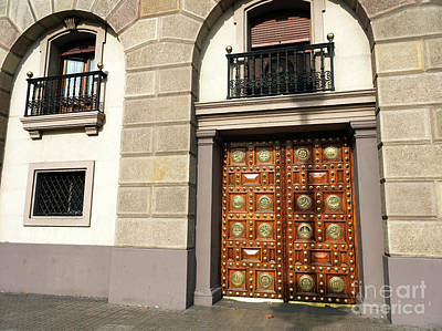 Photograph - Elegant Door In Barcelona by John Rizzuto