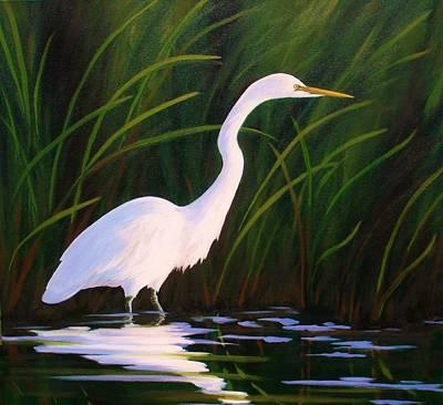 Painting - Elegant Egret by Sarah Grangier