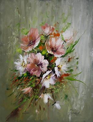 Elegant Flowers Art Print by David Jansen