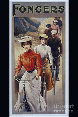 Elegant Fongers Vintage Stylish Cycle Poster Art Print