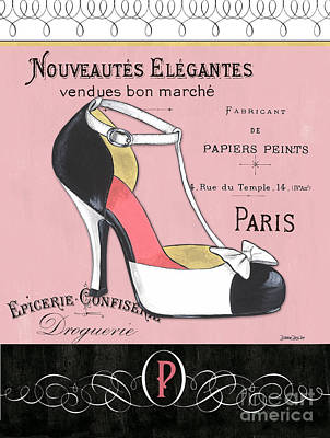 Black Mixed Media - Elegant French Shoes 1 by Debbie DeWitt
