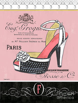 Fashion Illustration Wall Art - Painting - Elegant French Shoes 2 by Debbie DeWitt