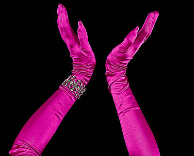 Photograph - Elegant Fuchsia Arms/hands Clapping by Trudy Wilkerson