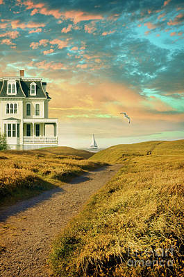 Photograph - Elegant House By The Sea by Jill Battaglia