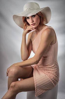 Photograph - Elegant Johanna In Peach by Gregory Daley  EPSA