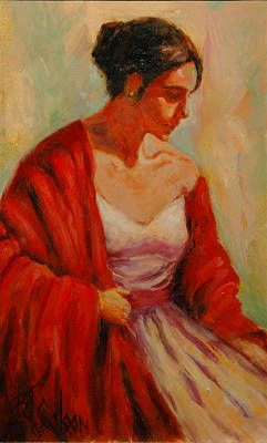 Womens Art Painting - Elegant Lady by Billie Colson