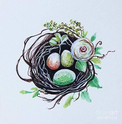 Painting - Elegant Nest by Elizabeth Robinette Tyndall