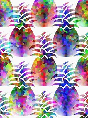 Pineapple Mixed Media - Elegant Pineapples by Kathleen Sartoris
