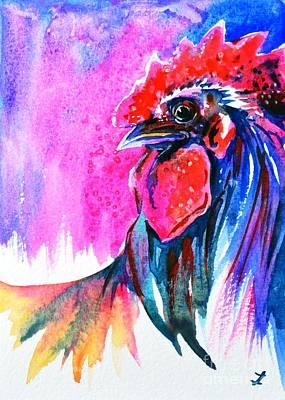 Painting - Elegant Rooster by Zaira Dzhaubaeva