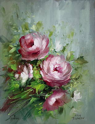 Elegant Roses Art Print by David Jansen