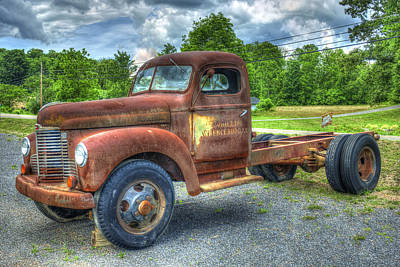Elegant Rust 1947 International Harvester K B 5 Truck Print by Reid Callaway
