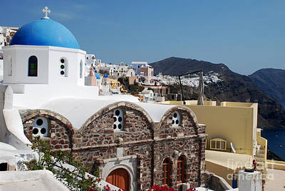 Santorini Photograph - Elegant Santorini Church by Just Eclectic