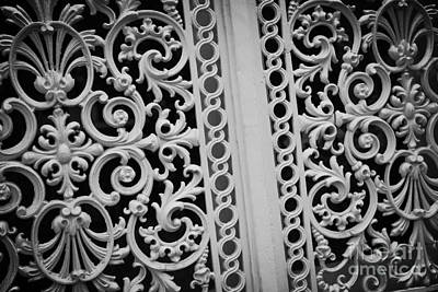 Photograph - Elegant Southern Pattern Black And White by Carol Groenen