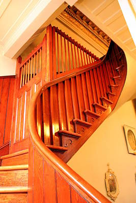 Photograph - Elegant Staircase At Notre Dame Des Victoires by Laurel Talabere