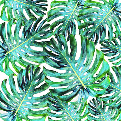 Photograph - Elegant Tropical Hawaii Monstera Leaf  by TK Goforth