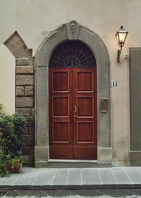 Art Print featuring the photograph Elegant Tuscan Door by Michael Flood